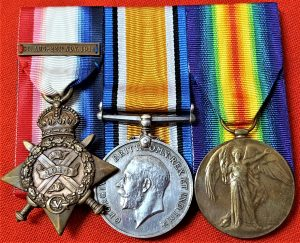 WW1 BRITISH ARMY 1914 STAR MEDAL TRIO GROUP 2835 LCPL FRED BEARE 16TH LANCERS