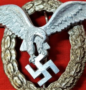 WW2 German Luftwaffe Air Force Combined Pilot & Observer qualification badge, aluminium type
