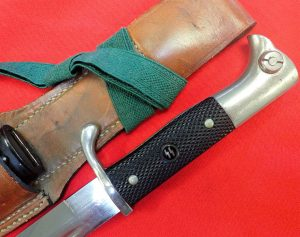 WW2 German S.S. KS98 dress bayonet, scabbard, frog & knot by Carl Eickhorn
