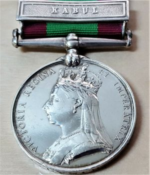 PRE WW1 BRITISH ARMY AFGHANISTAN MEDAL WITH CLASP KABUL PTE LYNCH 9th REGTIMENT