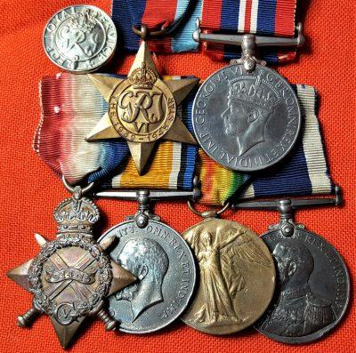 RARE WW1 & WW2 ROYAL NAVY SUBMARINER'S MEDAL GROUP CERA G.H.R. HICKS SUB E19