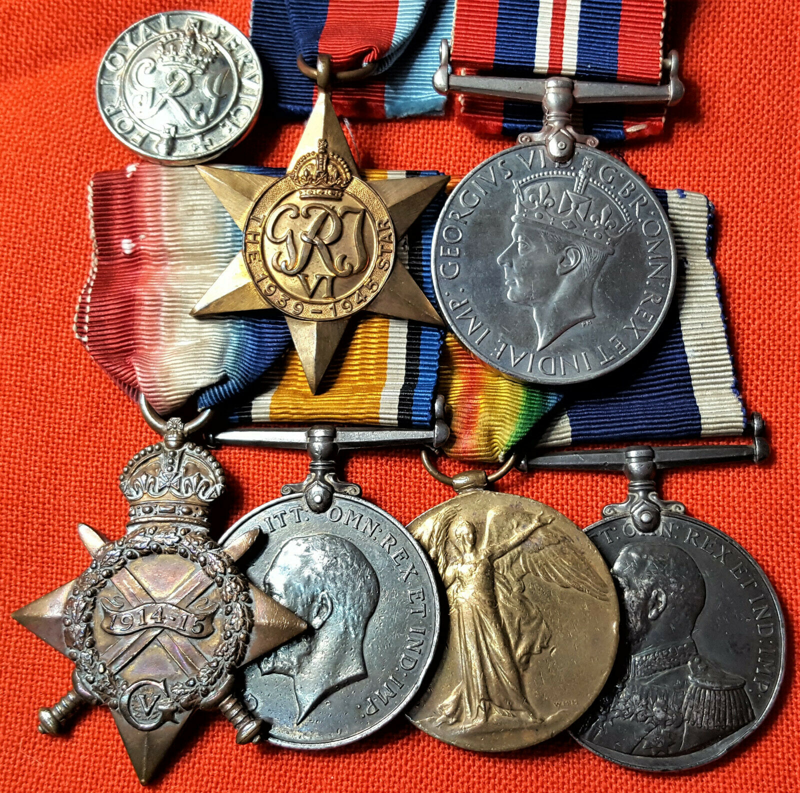 RARE WW1 & WW2 ROYAL NAVY SUBMARINER'S MEDAL GROUP CERA G.H.R. HICKS SUB E19