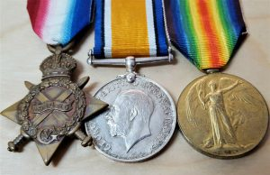 *WOUNDED WW1 1914-15 STAR MEDAL GROUP PTE HENDERSON 8TH GORDON HIGHLANDERS KELSO