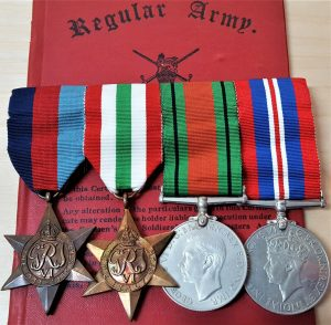 WW2 ITALIAN CAMPAIGN ROYAL ELECTRICAL & ENGINEERS MEDAL GROUP TO E W GAMBLE REME
