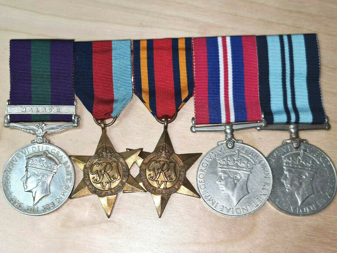 WW2 & MALAYA CAMPAIGN MEDAL GROUP OF 5 TO 6TH QUEEN ELIZABETH'S OWN GURKHA RIFLE