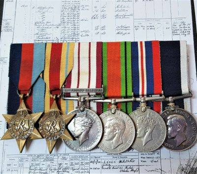 WW2 ROYAL MARINE LONG SERVICE MEDAL GROUP E C NEWMAN NEW ZEALAND NAVAL SERVICE