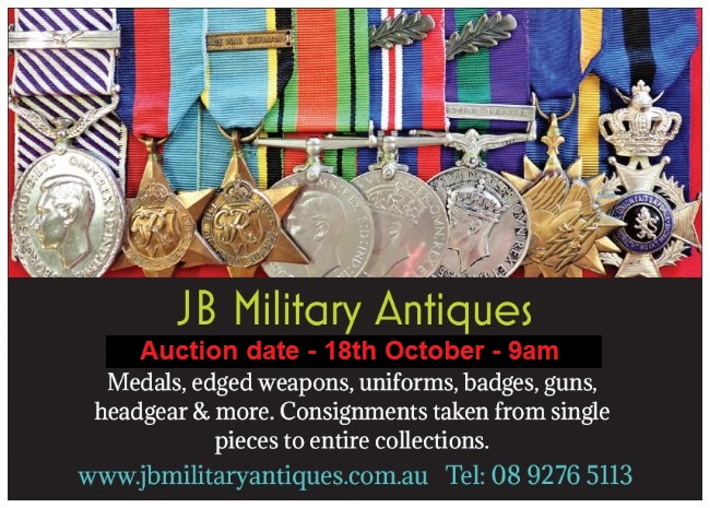 JB Military Antiques Auction 18th October 2020