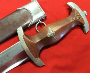 NAZI GERMANY 1ST MODEL 1933 SA DAGGER WITH SCABBARD BY GEBRUDER HELLER