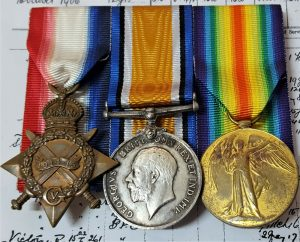 BATTLE OF JUTLAND WW1 ROYAL NAVY 1914-15 MEDAL GROUP S. PETTY OFFICER BENNETT