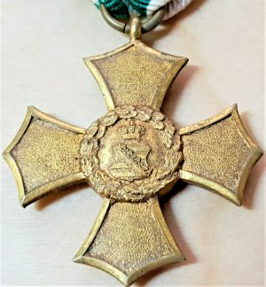 RARE WW1 GERMANY KINGDOM OF SAXONY CROSS OF HONOUR SERVICE MEDAL