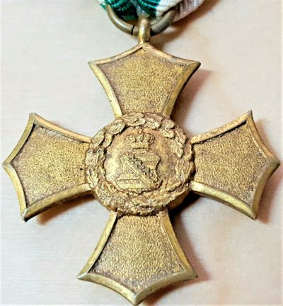 RARE WW1 GERMANY KINGDOM OF SAXONY CROSS OF HONOUR SERVICE MEDAL