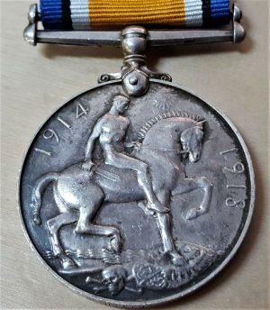 WW1 BRITISH WAR MEDAL ARMY 19658 PTE W JOYNER EAST LANCASHIRE REGIMENT