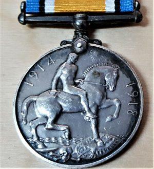 WW1 BRITISH WAR MEDAL ARMY 201089 PTE G. E. WALKER ROYAL BERKSHIRE REGIMENT BWM
