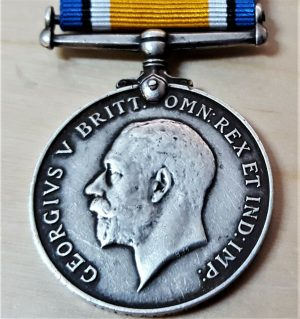 WW1 BRITISH WAR MEDAL ARMY 5650 PTE CHILIPA CHOME 1ST KING'S AFRICAN RIFLES BWM