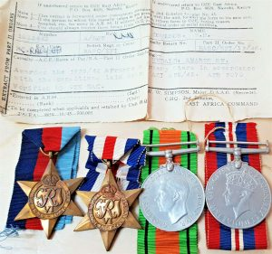 WW2 ROYAL ARTILLERY MEDAL GROUP SGT E.H.COULSON WITH ORIGINAL PAPERWORK