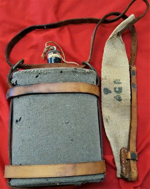WW1 era Australian military issued water bottle & strap set 1914