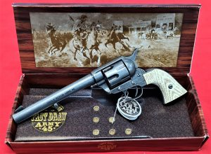 Kosler Colt 45 Western frontier revolver antique white grips & grey metal finish (Copy)