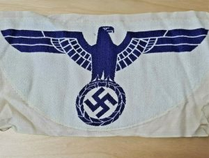 WW2 GERMAN NAVY 1935 PATTERN KRIEGSMARINE UNIFORM SPORTS SHIRT EAGLE PATCH BADGE