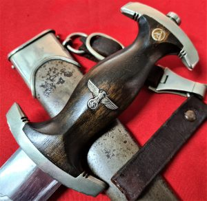 NAZI GERMANY 1ST MODEL 1933 SA DAGGER WITH SCABBARD BY GOTTFRIED MULLER HERGES VOGTEI