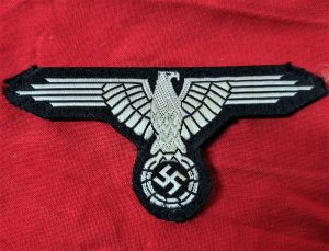 WW2 GERMAN S.S. BEVO UNIFORM ENLISTED UNIFORM EAGLE PATCH BADGE