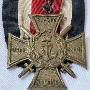 VINTAGE WW1 GERMANY MARINE KORPS FLANDERS COMMEMORATIVE CAMPAIGN SERVICE MEDAL