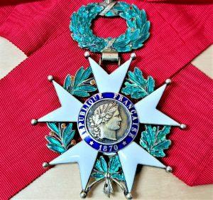 WW2 FRENCH COMMANDER GRADE LEGION OF HONOUR AWARD MEDAL 3RD REPUBLIC 1870-1951