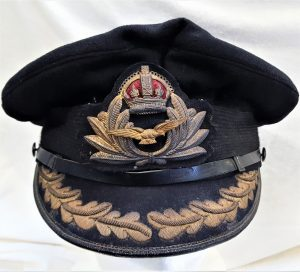 WW2 era Royal Navy Fleet Air Arm uniform senior officer's peaked cap