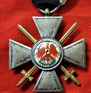 WW1 German Order of the Prussian Red Eagle 4th Class with swords