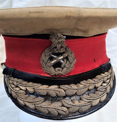WW1 era British & Commonwealth general officer's uniform peaked cap Ranken & Co.
