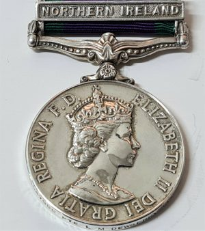 FEMALE POST WW2 BRITISH GENERAL SERVICE MEDAL NORTHERN IRELAND DEWBERRY ROYAL LOGISTIC CORPS