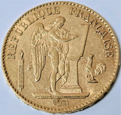 1878 dated French 20 Franc gold coin