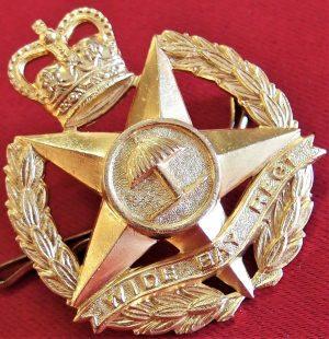 1953 VIETNAM WAR AUSTRALIAN ARMY WIDE BAY REGIMENT UNIFORM CAP BADGE 47BN