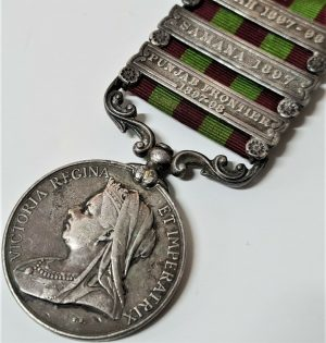 BENGAL LANCERS 1895 BRITISH INDIA ARMY GENERAL SERVICE CAMPAIGN MEDAL PRE WW1