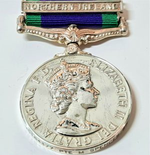 BLACK WATCH ARMY +WW2 BRITISH GENERAL SERVICE MEDAL NORTHERN IRELAND SPENCER