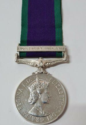 ENGINEERS +WW2 BRITISH ARMY GENERAL SERVICE MEDAL NORTHERN IRELAND SAPPER JESSOP