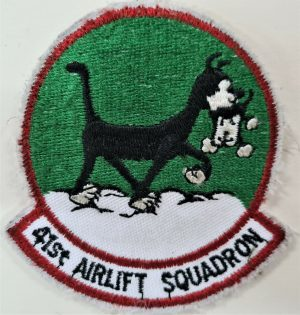 POST WW2 US AIR FORCE 41ST AIRLIFT SQUADRON UNIFORM PATCH USAAF