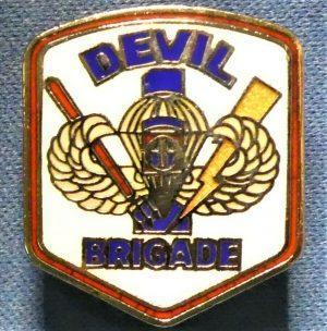 US VIETNAM WAR ERA UNIT DISTINCTIVE INSIGNIA ENAMEL BADGE DEVIL BRIGADE 82ND ABN