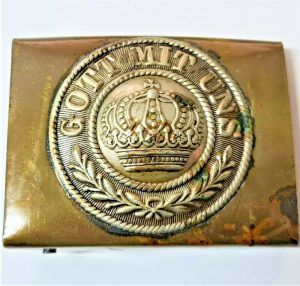 VINTAGE WW1 GERMAN ARMY ENLISTED & NCO'S UNIFORM BELT BUCKLE M1895