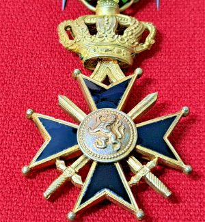 VINTAGE WW2 BELGIUM MILITARY CROSS 1ST CLASS MEDAL 25 YEARS SERVICE
