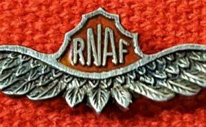 VINTAGE WW2 USA ROYAL NORWEGIAN AIR FORCE RNAF UNIFORM PILOT WING WAR BADGE