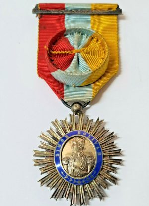 WW1 ERA VENEZUELA ORDER OF THE LIBERATOR OFFICER MEDAL BREAST BADGE
