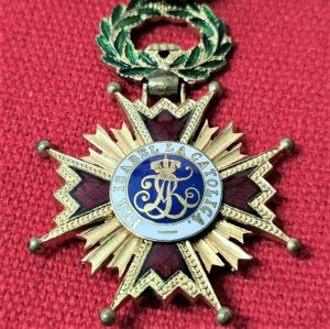 WW1 WW2 ERA SPAIN ORDER OF ISABELLA THE CATHOLIC MEDAL KNIGHT GRADE