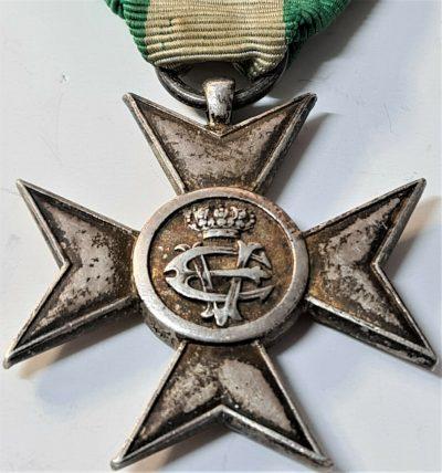 WW1 WW2 ITALY MILITARY 16 YEAR LONG SERVICE CROSS MEDAL 1900-1944