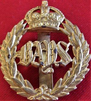 WW2 BRITISH ARMY 2ND DRAGOON GUARDS (QUEEN'S BAYS) UNIFORM CAP BADGE