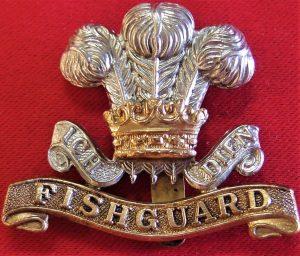 WW2 BRITISH ARMY PEMBROKE YEOMANRY HUSSARS UNIFORM CAP BADGE