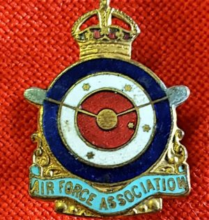 WW2 ERA AUSTRALIAN AIR FORCE ASSOCIATION LAPEL BADGE
