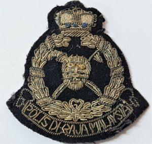 WW2 ERA OBSOLETE MALAYSIAN POLICE FORCE UNIFORM CAP BADGE 1940'S