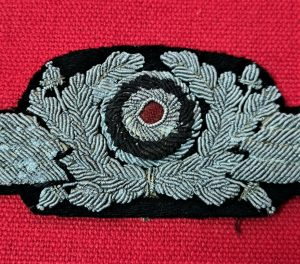 WW2 GERMAN AIR FORCE LUFTWAFFE OFFICER'S CAP COCKADE & WINGS BADGE PATCH