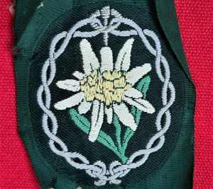 WW2 GERMAN ARMY EDELWEISS UNIFORM TUNIC ARM PATCH BADGE MOUNTAIN TROOPS