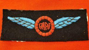 WW2 ROYAL AUSTRALIAN AIR FORCE AIR SPORTS GEAR UNIFORM WING BADGE